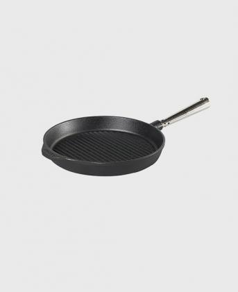 Grillpanna 25 cm med stålhandtag