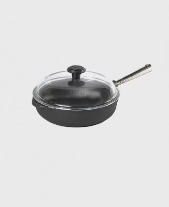 Deep pan 25 cm glass lid