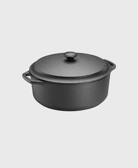 Casserole round 5,5 L with cast iron lid
