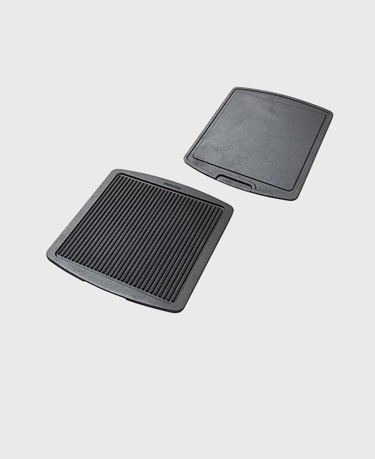 Grill & stekplatta 35,5 x 32,5 cm