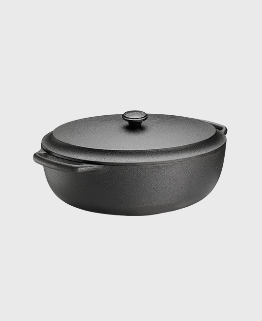 Casserole oval 6 L with cast iron lid