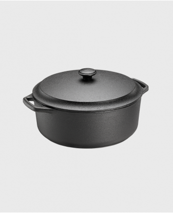 Casserole round 4 L with cast iron lid