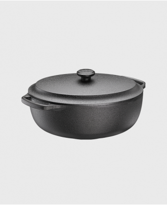 Casserole oval 4 L with cast iron lid